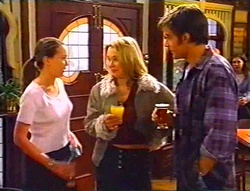Libby Kennedy, Steph Scully, Drew Kirk in Neighbours Episode 3443