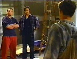 Toadie Rebecchi, Drew Kirk, Billy Kennedy in Neighbours Episode 3443