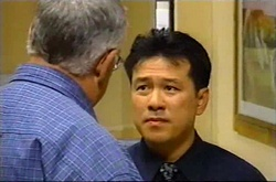 Harold Bishop, Roger Chan in Neighbours Episode 3739