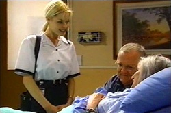Dee Bliss, Harold Bishop, Madge Bishop in Neighbours Episode 3739