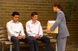 Paul McClain, Tad Reeves, Susan Kennedy in Neighbours Episode 3739