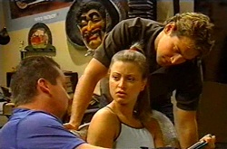 Toadie Rebecchi, Felicity Scully, Joel Samuels in Neighbours Episode 3743
