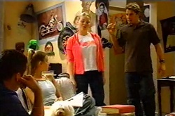 Toadie Rebecchi, Felicity Scully, Michelle Scully, Joel Samuels in Neighbours Episode 3743