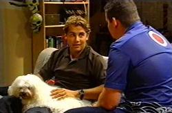 Joel Samuels, Toadie Rebecchi, Bob in Neighbours Episode 3743