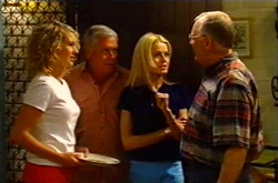 Tess Bell, Lou Carpenter, Dee Bliss, Harold Bishop in Neighbours Episode 3744