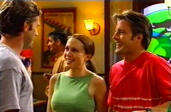 Evan Hancock, Libby Kennedy, Drew Kirk in Neighbours Episode 3745