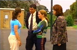 Bianca Nugent, Joe Scully, Michelle Scully, Lyn Scully in Neighbours Episode 3745