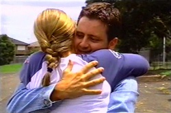 Steph Scully, Larry Woodhouse (Woody) in Neighbours Episode 3747