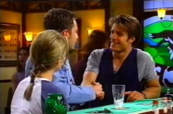 Steph Scully, Larry Woodhouse (Woody), Drew Kirk in Neighbours Episode 3747