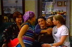Lyn Scully, Felicity Scully, Jack Scully, Steph Scully, Michelle Scully in Neighbours Episode 3748