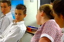 Callum Jackson, Michelle Scully, Elly Turnbull in Neighbours Episode 3750