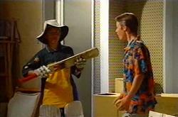 Aleks Rama, Leo Hancock in Neighbours Episode 3750