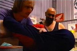 Barry Burke, Johnny Otten, Larry Woodhouse (Woody) in Neighbours Episode 3751