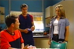 Larry Woodhouse (Woody), Drew Kirk, Steph Scully in Neighbours Episode 3752