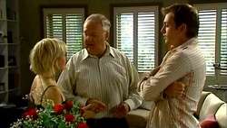 Sindi Watts, Harold Bishop, Stuart Parker in Neighbours Episode 4732
