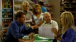 David Bishop, Sky Mangel, Serena Bishop, Harold Bishop, Peg Verity in Neighbours Episode 4744