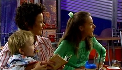 Oscar Scully, Lyn Scully, Summer Hoyland in Neighbours Episode 4748