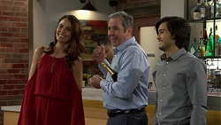Elly Conway, Karl Kennedy, David Tanaka in Neighbours Episode 7491