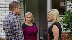 Gary Canning, Sheila Canning, Brooke Butler in Neighbours Episode 7491