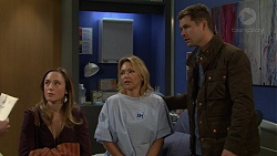 Sonya Mitchell, Steph Scully, Mark Brennan in Neighbours Episode 7492