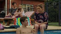 Ben Kirk, Xanthe Canning, Angus Beaumont-Hannay, Piper Willis in Neighbours Episode 7493