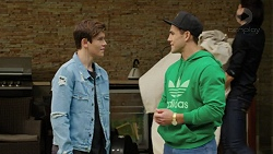 Angus Beaumont-Hannay, Aaron Brennan in Neighbours Episode 7493