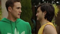 Aaron Brennan, David Tanaka in Neighbours Episode 7493