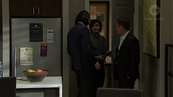 Leo Tanaka, David Tanaka, Paul Robinson in Neighbours Episode 7494