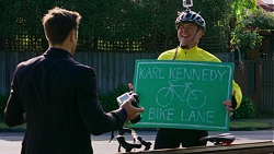 Aaron Brennan, Karl Kennedy in Neighbours Episode 7495