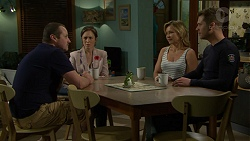 Toadie Rebecchi, Sonya Rebecchi, Steph Scully, Mark Brennan in Neighbours Episode 7495