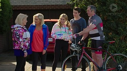 Sheila Canning, Brooke Butler, Xanthe Canning, Ben Kirk, Karl Kennedy in Neighbours Episode 7496