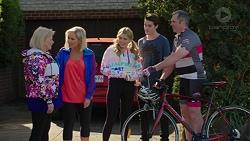 Sheila Canning, Brooke Butler, Xanthe Canning, Ben Kirk, Karl Kennedy in Neighbours Episode 7496