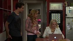 Ben Kirk, Xanthe Canning, Brooke Butler in Neighbours Episode 7496