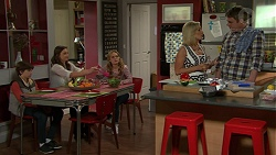Jimmy Williams, Amy Williams, Xanthe Canning, Brooke Butler, Gary Canning in Neighbours Episode 7497