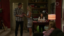 Gary Canning, Brooke Butler, Amy Williams, Xanthe Canning in Neighbours Episode 7497