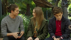 Tyler Brennan, Piper Willis, Angus Beaumont-Hannay in Neighbours Episode 7497