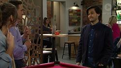 Amy Williams, Aaron Brennan, David Tanaka in Neighbours Episode 7498