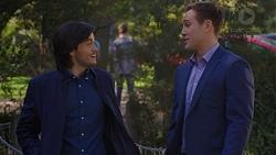 David Tanaka, Aaron Brennan in Neighbours Episode 7498