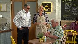 Karl Kennedy, Lauren Turner, Lou Carpenter in Neighbours Episode 7499