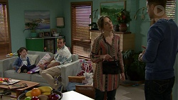 Nell Rebecchi, Toadie Rebecchi, Sonya Rebecchi, Mark Brennan in Neighbours Episode 7499