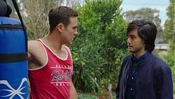 Aaron Brennan, David Tanaka in Neighbours Episode 7499