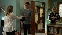 Sonya Mitchell, Mark Brennan, Steph Scully in Neighbours Episode 7500