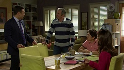 Aaron Brennan, Karl Kennedy, Angus Beaumont-Hannay, Elly Conway in Neighbours Episode 7500
