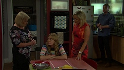 Sheila Canning, Xanthe Canning, Brooke Butler, Gary Canning in Neighbours Episode 7501
