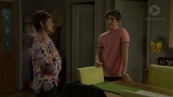 Susan Kennedy, Angus Beaumont-Hannay in Neighbours Episode 7501