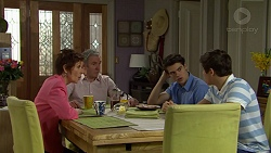Susan Kennedy, Karl Kennedy, Ben Kirk, Angus Beaumont-Hannay in Neighbours Episode 7502