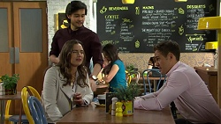 David Tanaka, Amy Williams, Aaron Brennan in Neighbours Episode 7503