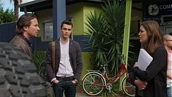 Brad Willis, Jack Callaghan, Paige Novak in Neighbours Episode 7503