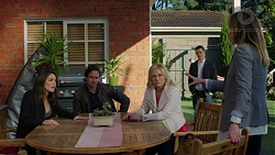 Paige Novak, Brad Willis, Lauren Turner, Jack Callaghan, Sonya Mitchell in Neighbours Episode 7503