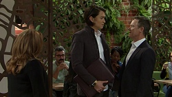 Terese Willis, Leo Tanaka, Paul Robinson in Neighbours Episode 7506